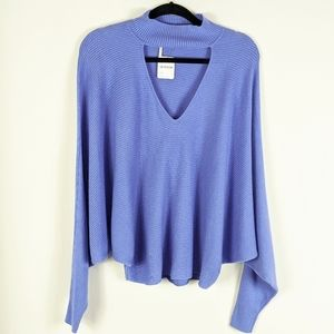 NWT Free People Lilac Silk & Cashmere Sweater